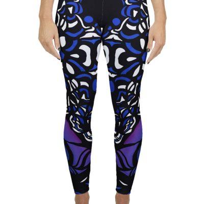 black blue yoga legging