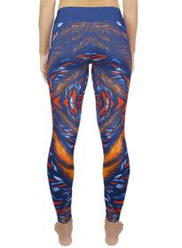 blue and orange yoga legging