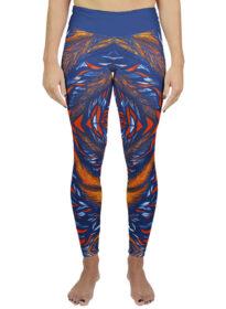 blue orange legging