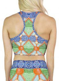 colorful pattern crop top