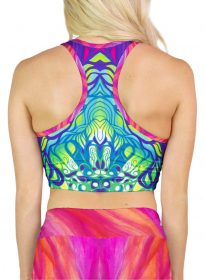 colorful yoga crop top