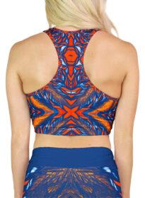 orange blue crop top